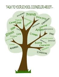 talk to your school counselor about tree poster by the inspired
