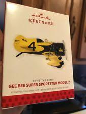 hallmark airplane ornaments ebay