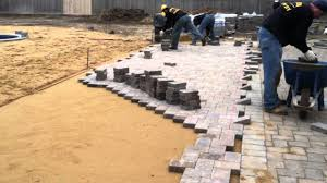 Install Patio Pavers by Pool Patio Installation With 6x9 Toffee Onyx Tumblestone Pavers
