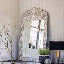 decor wall decoration ideas with mother of pearl mirror and