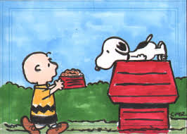 charlie brown and snoopy sketch card by stideshvn on deviantart