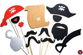 halloween pirate party photo booth props pirate party 13 props on a stick