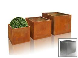 Square Metal Planter by Corten Steel Cube Planter Rust Square Metal Garden Plant Flower