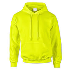 12500 gildan high visibility safety green hoodie sweatshirt
