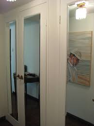How To Hang A Closet Door Johnson Glass Mirror Sliding Mirror Closet Doors