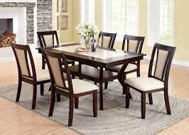 Marble Top Dining Room Table by Amazon Com Furniture Of America Dalcroze 7 Piece Modern Faux