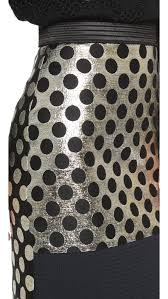 emanuel ungaro polka dot skirt black gold in black lyst