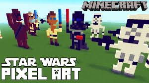 minecraft star wars pixel art templates youtube