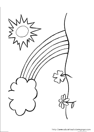 rainbow coloring pages free kids