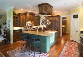 expensive custom kitchen with island stock photo picture and