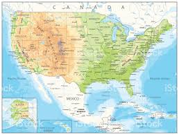 Arizona Map Us by Physical Map Of Usa Large Physical Map Of The Usa With Roads And
