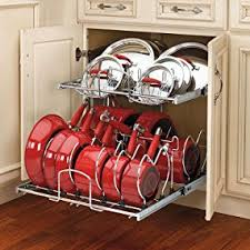 Pots And Pans Cabinet Rack Amazon Com Rev A Shelf 5cw2 2122 Cr 21 In Pull Out 2 Tier