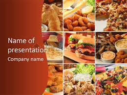 Fast Food Collage Powerpoint Template Id 0000009915 Upresentation Com Fast Food Ppt