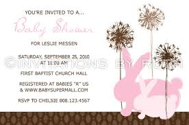rabbit baby shower pink rabbit baby shower invite invitations by ruth