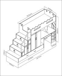 taille bureau dimensions lit une place dimension personne design enfant