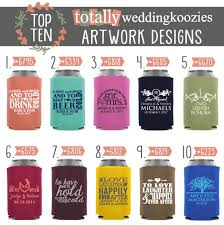 wedding koozie wedding koozie ideas 10 hot wedding koozies totally weddings