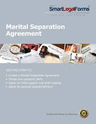marital separation agreement smartlegalforms form nj marital