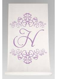 personalized aisle runner personalized watercolor florish aisle runner david s bridal