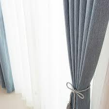 high grade modern style yarncurtains dyed plain cotton curtains
