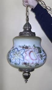 vintage swag lamps for sale retro eames era avocado spacey