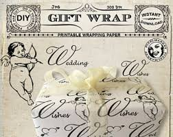 shabby chic wrapping paper shabby chic paper gift wrap etsy