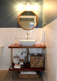 Bathroom Vanity With Shelves Fascinating Images Diy Vanities Ideas Industrial Bathroom Vanity