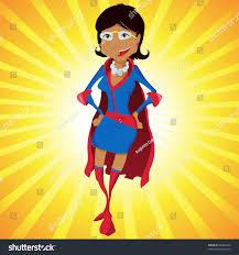 black super woman mother cartoon yellow stock illustration