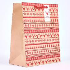 large christmas gift bags kraft fairisle large christmas gift bag card factory