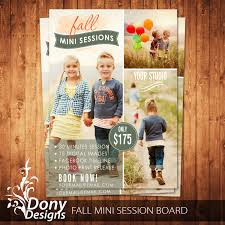 fall mini session photography marketing board newsletter
