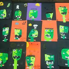 halloween kids craft picasso frankenstein u2022 color made happy