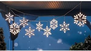 charming decoration snowflake lights outdoor home design