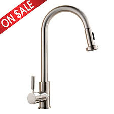 stainless steel kitchen faucet with pull down spray comllen best commercial single handle pull out sprayer stainless