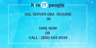 Sample Dba Resume by Sql Server Dba Resume In Hire It People We Get It Done