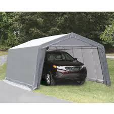 Canopy Storage Shelter by Fingerhut Master Craft 12 U0027 X 24 U0027 Instant Storage Garage