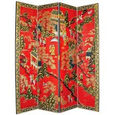 oriental village hand painted japanese room divider screen polyvore