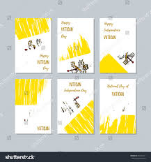 vatican patriotic cards national day expressive stock vector