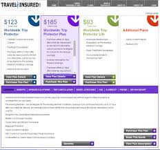 quote comparison format review of travel insured international travel insurance review