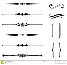 rule line and ornament set stock vector image 48543375