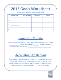 Setting Worksheets Creating Powerful Goals For 2015 U2013 A Product Stacking Worksheet