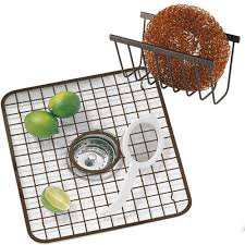 Amazon Com Interdesign Gia Kitchen Sink Protector Wire Grid Mat by Amazon Com Kitchen Sink Grid Rack And Sponge Holder Caddy Oil