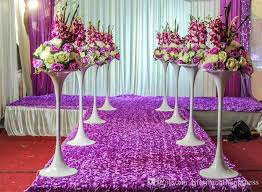 wholesale wedding decorations 2017 wedding props catwalk carpet petals wedding stage