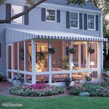 Side Awnings For Patios How To Build A Screened In Patio Patio Enclosures Patios And Beams