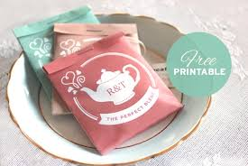 tea bag wedding favors free printable tea package wedding favors wa weddings