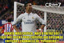 Memes De Cristiano Ronaldo - hat trick de cristiano ronaldo leva internet 罌 loucura veja memes