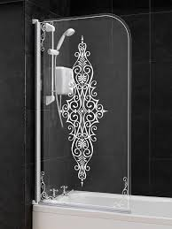 bath screens bath shower screens splashdirect aqualux victorian shower screen tg063