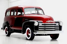 chevrolet suburban red 1951 chevrolet suburban 3100 bordeaux american dream machines