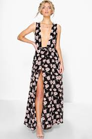 anouk floral chiffon wrap maxi dress boohoo