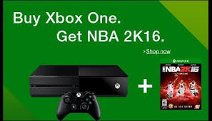 xbox one consoles and bundles xbox nba 2k16 free with purchase of select xbox one console bundles n4g