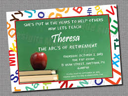 Retirement Invitation Wording Plain Teacher Retirement Party Invitation Wording 4 Along