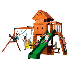 backyard discovery dayton all cedar playset 65014com the home depot